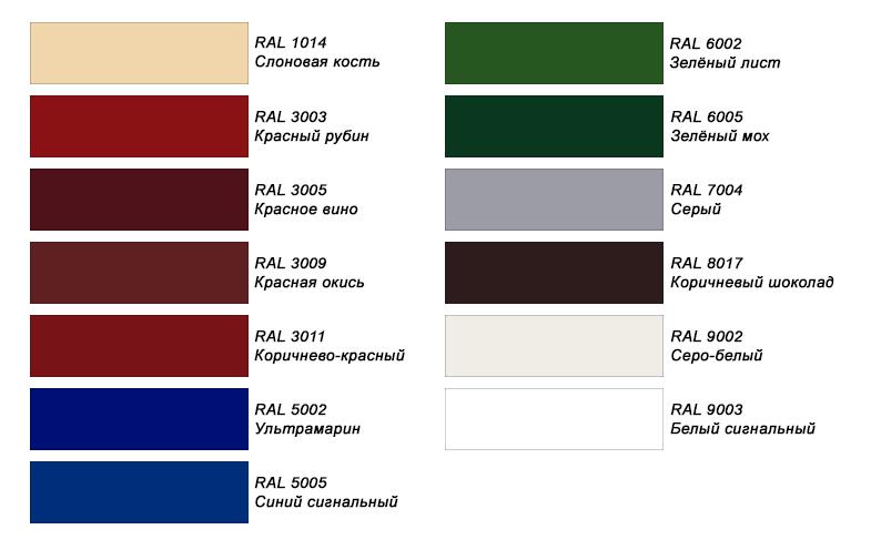 цвета металлочерепицы